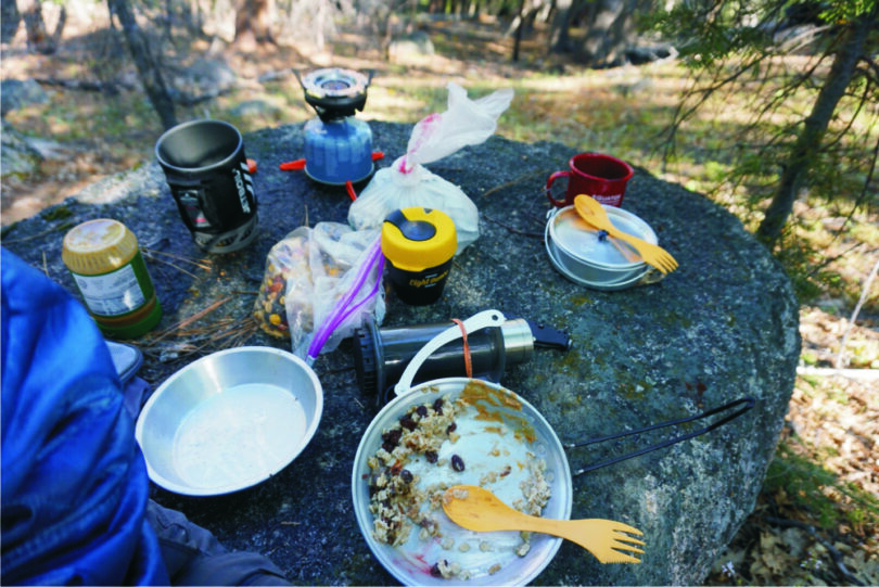 Jetboil Flash warming breakfast oats