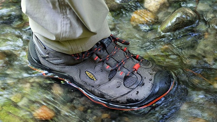 Keen's Durand boots provide solid water protection