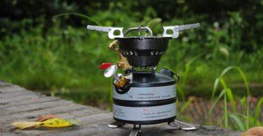 Image showing a Kerosene Stove on a table outside