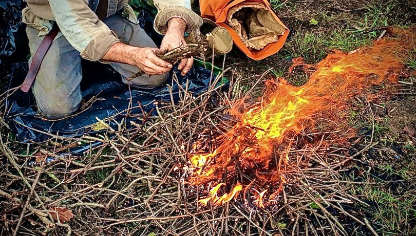 Lean-To Fire Campfire