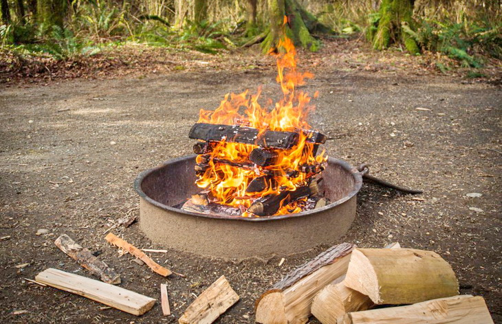Log Cabin Fire Campfire