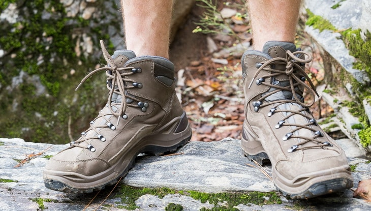 Man Wearing Lowa Men's Renegade GTX Hiking