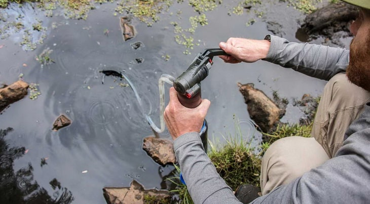 Man using Pump Filters and Purifiers