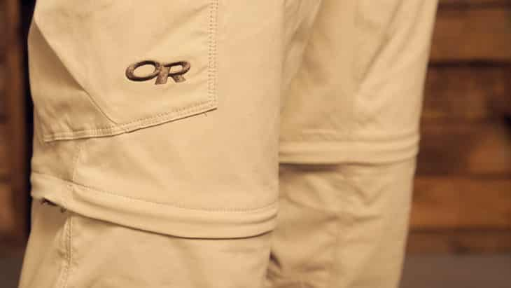 Man wearing a pair of OR-men-convertible-pants