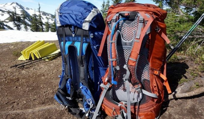Image showing two Osprey-Backpacks on the ground
