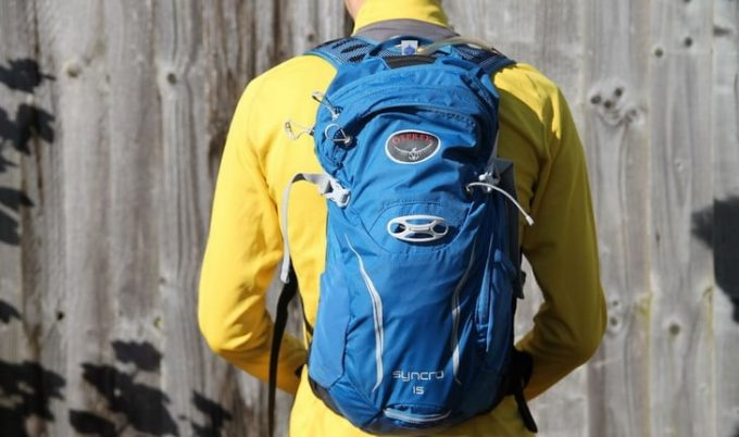 a man with a Osprey-Syncro-15-hydration-pack