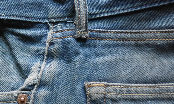Close-up photo of jeans