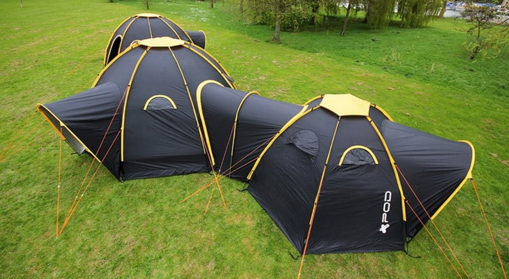 picture of a Dome-style tent