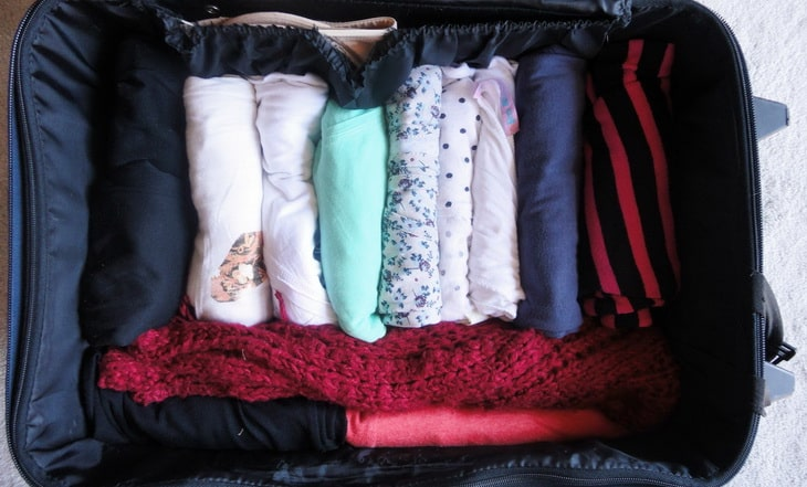 Packing in layers ensures enough space for everything.