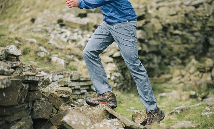 Man Climbing the Mountains in Paramo-Montero-Technical-Jeans