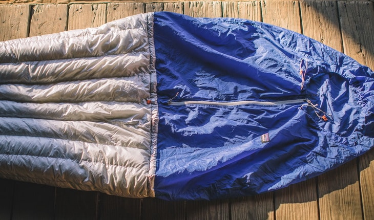 Patagonia Hybrid Sleeping Bag on the ground