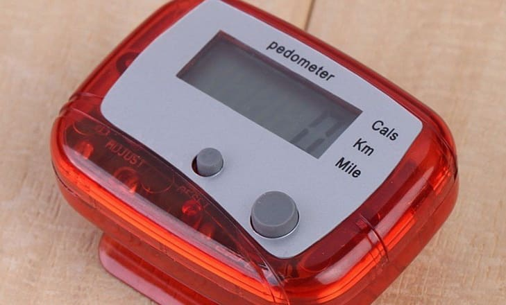 Pedometer Counter Hiking Step Counter on the Table