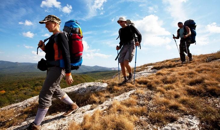 People hiking on trails