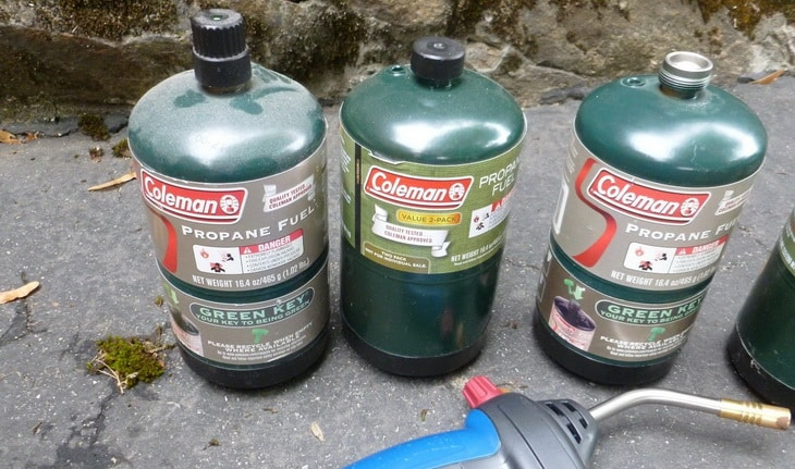 Image showing the Propane-or-gasoline fuel for camping lantern