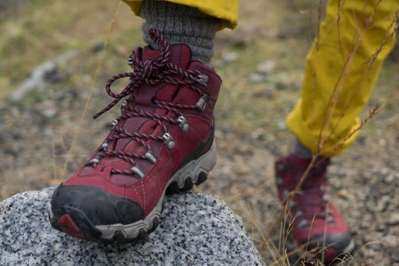 Red-hiking-boots