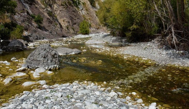 River near mountains
