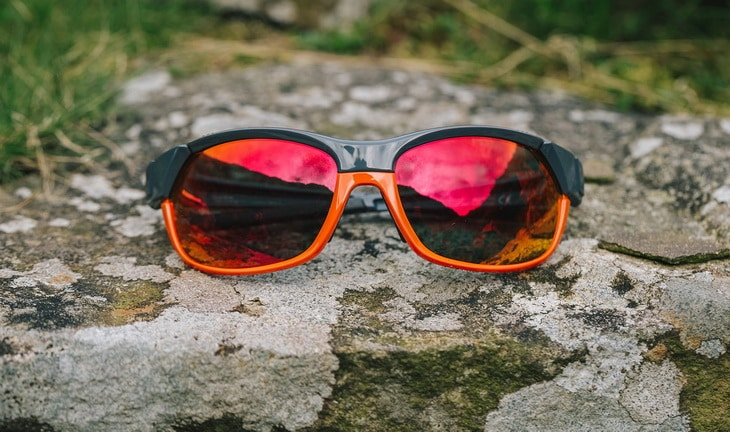 Smith-Pivlock-Overdrive-Sunglasses on a Rock