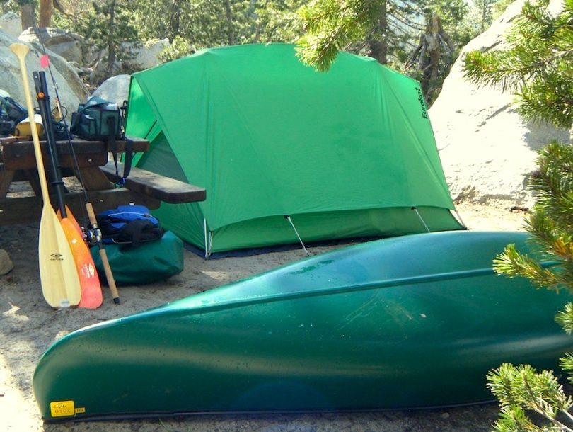 Solo canoe camping