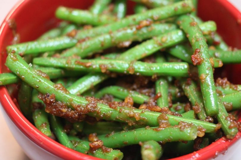 Bowl of Spicy Green Beans