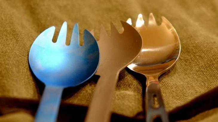 Image showing three sporks having different colours