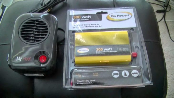 Image showing a tent-Heater-Idea-for-Winter-Camping
