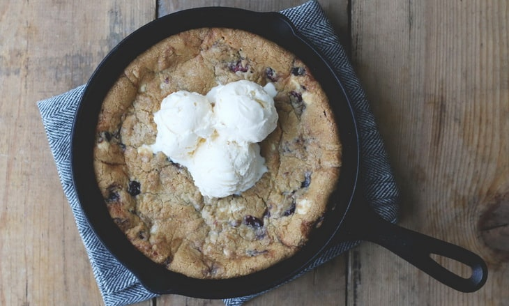 This skillet cookie recipe is a great dessert to make while camping.