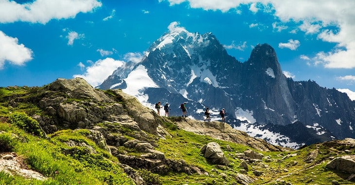 Hiking on Tour Du Mont Blanc
