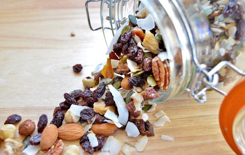 Trail Mix in Jar on the side
