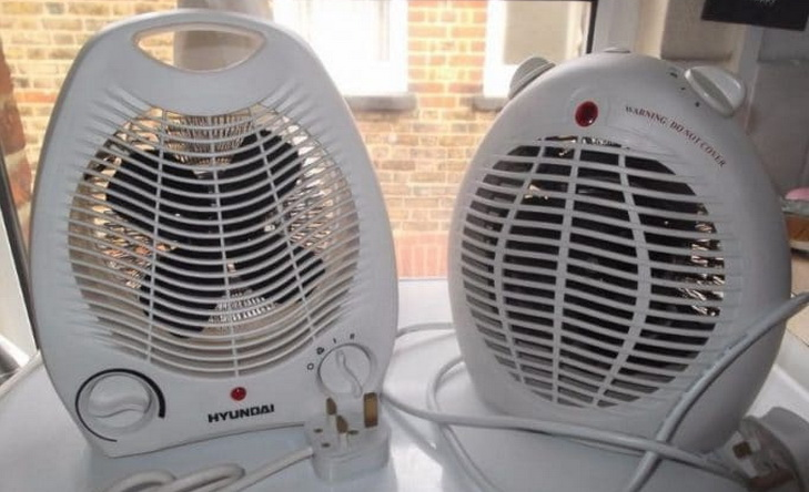 Image showing two small portable fan heaters