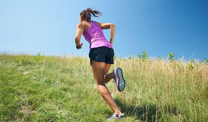 Uphill and Downhill Running