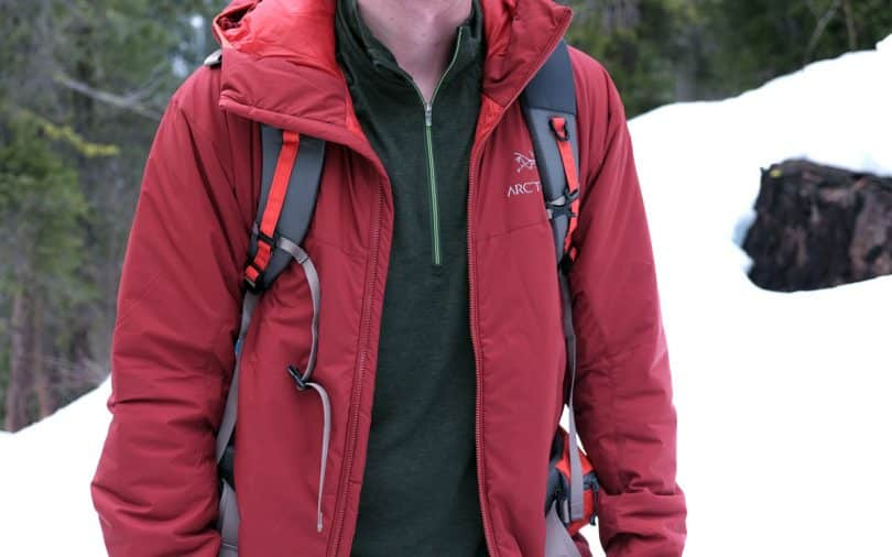 Winter hiking jacket
