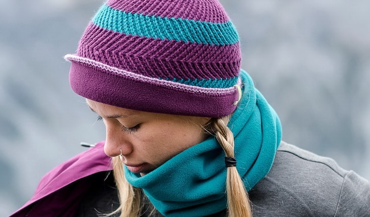 Woman wearing Fleece Neck Gaiter