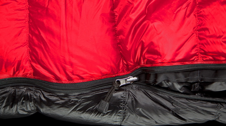 Zipper and Draft Flap