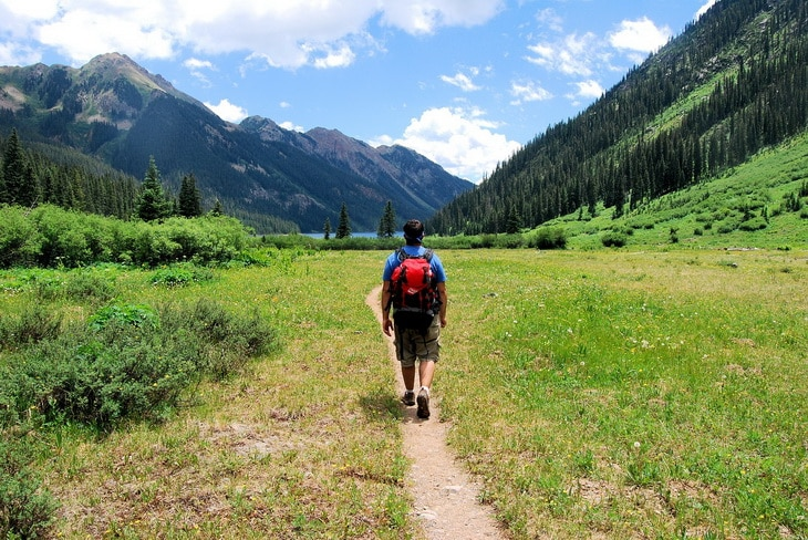 backpacking in Colorado mountains