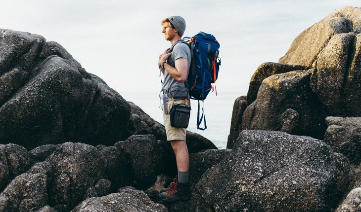 One man backpacking adventure