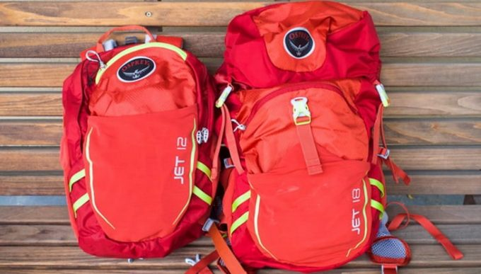Image showing two osprey backpacks-for-kids