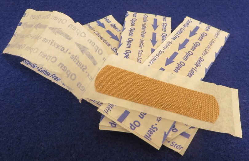 clouse-up picture of bandages