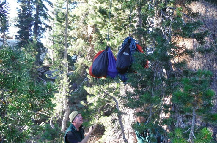 Double Rope Method/Counterbalance Method to hang a bear bag