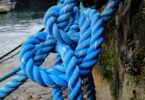 Image showing a blue-rope-tied
