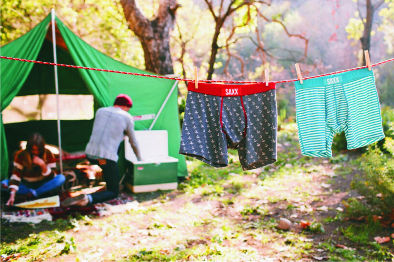 campers drying their underwear