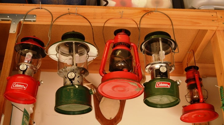 collection includes kerosene, gasoline and propane lanterns