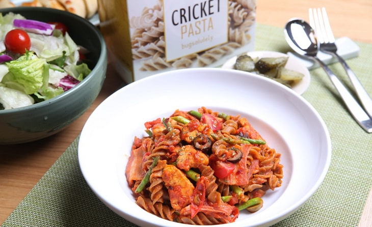 cricket food on a plate