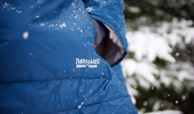 close-up image of a therma rest poncho