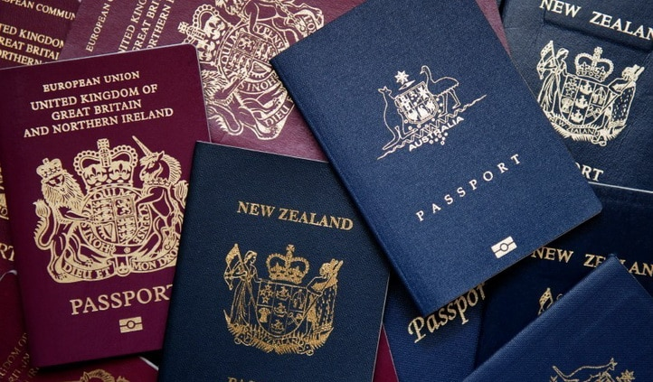 different colours passports