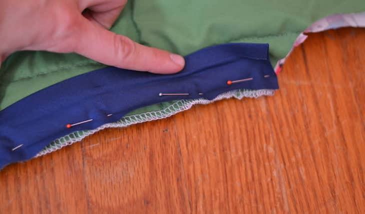 The Seams of a Sleeping Bag