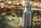 eco vessel stainless growler on the ground