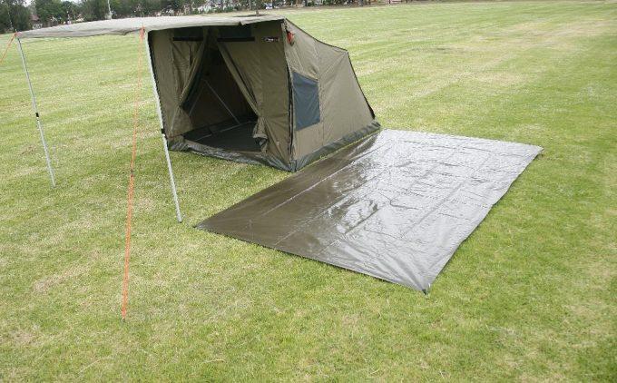 footprint-near-tent