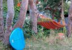 hammock camping near a beach