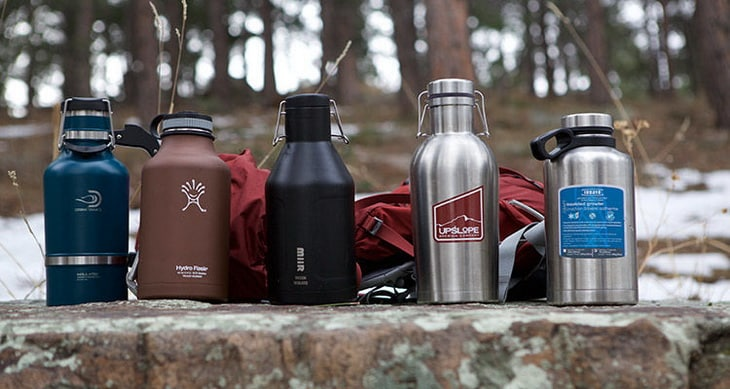5 Outdoor Beer Growler on a rock