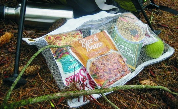 Hiking food in a Odor Proof Bag for Backpacking
